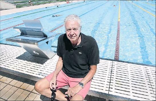 ?? KIM MANRESA ?? Joan Fortuny, en la piscina del CN Sabadell