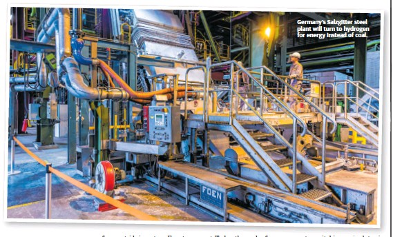 ??  ?? Germany's Salzgitter steel plant will turn to hydrogen for energy instead of coal.