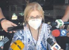 ??  ?? Beatriz Denis, una de las hijas del exvicepresidente de la República Óscar Denis. Este permanece secuestrado.