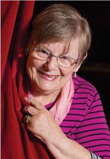 ??  ?? Curtain call: Barbara Mackie in the Ayr theatre