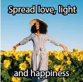 ??  ?? Spread love, light and happiness