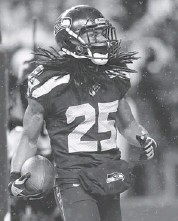 ?? OTTO GREULE JR/GETTY IM­AGES ?? From the out­set, Richard Sherman was defiant that his four-game sus­pen­sion would be over­turned.