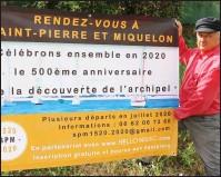 ??  ?? Pour les 500 ans de la découverte de Saint-Pierre-et-Miquelon, JeanPhilippe Baron reconstitue une flottille pour s'y rendre en juillet 2020.