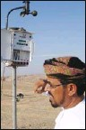 ??  ?? Dr Mohsin checkingweather meter
