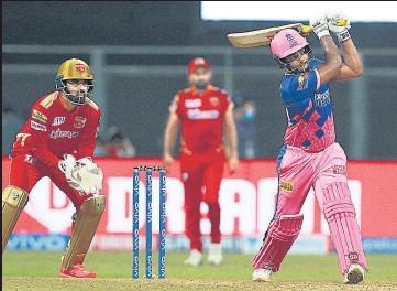?? BCCI ?? Rajasthan Royals's Sanju Samson on way to becoming the first debutant skipper in IPL to hit a century.