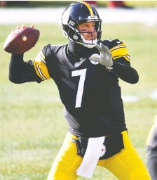 ?? JOE SARGENT/ GETTY IMAGES FILES ?? The playoff-bound Steelers will rest veteran QB Ben Roethlisberger this week against the Browns.