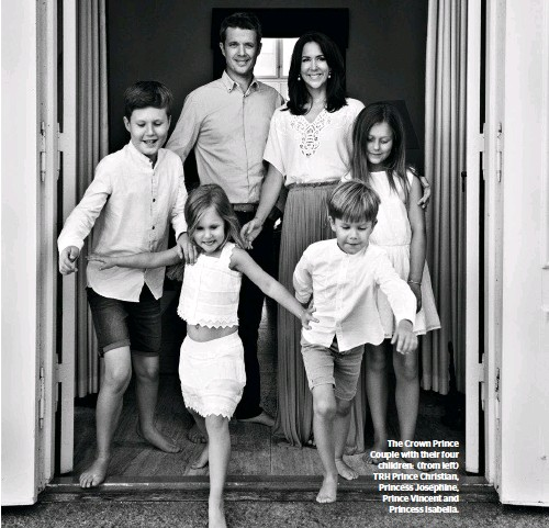 ??  ?? The Crown Prince Couple with their four children: (from left) TRH Prince Christian, Princess Josephine, Prince Vincent and Princess Isabella.