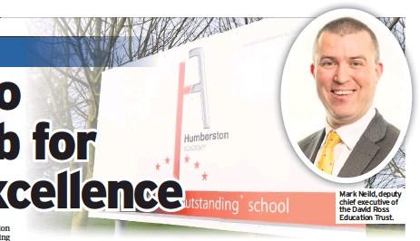 ??  ?? Mark M kN Neild, ild deputy d t chief executive of the David Ross Education Trust.