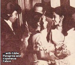 ??  ?? …with Eddie Peregrina and Esperanza Fabon