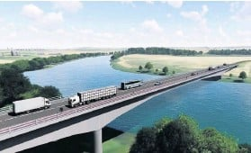 ??  ?? Route The Cross Tay Link Road is now scheduled for completion no earlier than 2024