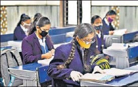?? RAJ K RAJ/HT PHOTO ?? The exams were scheduled from May 4 but were postponed as infections surged.