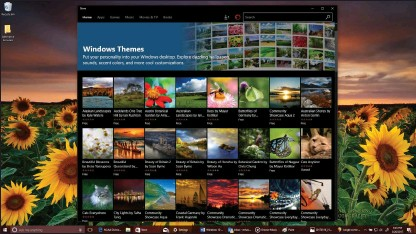 ??  ?? Boring Windows desktops are a thing of the past with Windows 10 Creators Update's Themes