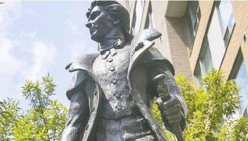 ?? POSTMEDIA NEWS ?? Alexander Wood's statue could soon be moved from a Toronto street, but Adam Zivo writes that Wood is intimately tied to the history of Toronto and its LGTBQ community and deserves to be commemorated.