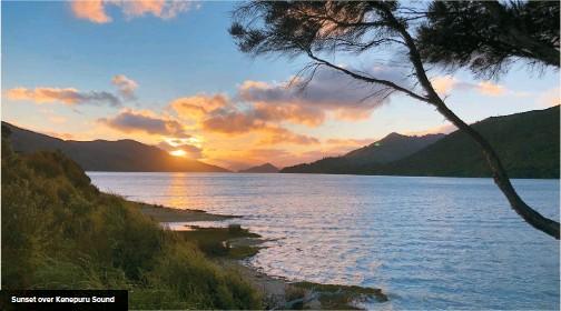 ??  ?? Sunset over Kenepuru Sound