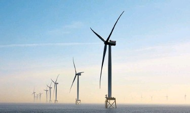 ?? Suzie Howell, © The New York Times Co. ?? Wind turbines off the coast of East Anglia in England in 2020. Importing parts has made economic sense for Britain, which had installed more offshore wind turbines than any other country by the start of this year but had made little of the equipment.