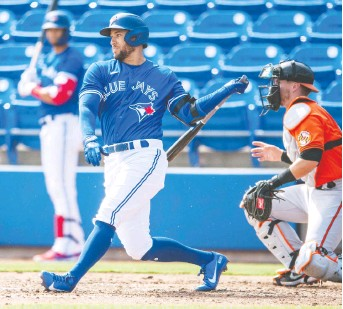 ?? STEVE NESIUS/THE CANADIAN PRESS FILES ?? Toronto Blue Jays general manager Ross Atkins is already impressed with the professionalism of his superstar centre-fielder George Springer.