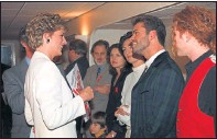 ??  ?? ROYAL MEETING: Michael chats with Diana, Princess of Wales, in 1993.
