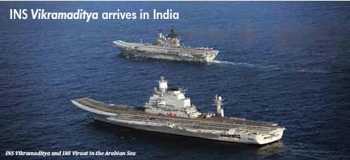 ??  ?? INS Vikramaditya and INS Viraat in the Arabian Sea