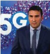 ?? Foto Leon Vidic ?? Do konca leta naj bi Telekom Slovenije s 5G v frekvenčnem pasu pokril 33 odstotkov prebivalstva, pravi Matjaž Beričič, član uprave za tehnologijo.