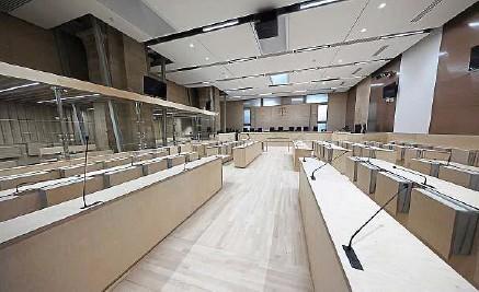 ?? T. Coex / AFP ?? Le procès des attaques de Paris et Saint-Denis va se dérouler dans cette salle du palais de justice de Paris, devant la cour d'assises spéciale.
