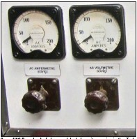 ?? (Special to the Democrat-Gazette/Jack Schnedler) ?? Some USS Razorback dials carry labels from its service in the Turkish navy.