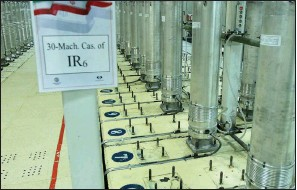 ?? (AP) ?? Centrifuge machines at the Natanz uranium enrichment facility are shown in a Nov. 5, 2019, photo by the Atomic Energy Organization of Iran. The facility lost power Sunday just a day after officials celebrated the inauguration of new centrifuges.