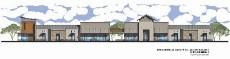 ?? FOTO CORTESÍA ?? IMAGEN CONCEPTUAL de los edificios comerciales propuestos por Rubén Fontanes en el complejo Parkwiew Commerce Center, en Somerton.
