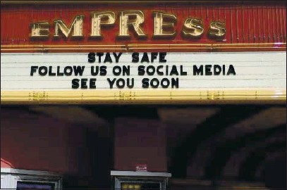 ?? RICH FREEDMAN — TIMES-HERALD FILE ?? Wallejo's biggest entertainment venue, the Empress Theatre, is shown earlier this year. The Empress will be allowed to have live events starting on April 15.