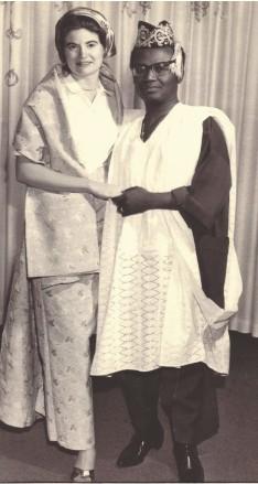 ??  ?? •The late Ola Rotimi and wife, Hazel Mae