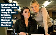 ??  ?? GOOD IDEA: Suranne Jones, and Lesley Sharp in Scott & Bailey. Sally and Suranne conceived the show