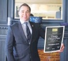 ??  ?? General Manager Marcel Wassen holding the award for Country House Hotel of the Year