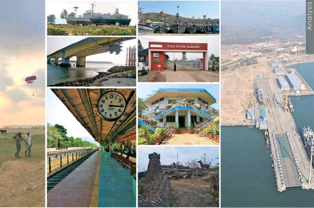 ??  ?? This spread: Snapshots of the dwelling and infrastructural facilities in Karwar, Karnataka
