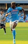 ?? (Afp) ?? Pericolo Victor Osimhen, l'Udinese studia come fermarlo