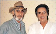 ??  ?? Pals Tommy with Don Williams