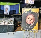 ?? Images of Lufuno Mavhunga at her funeral yesterday. Picture: Twitter ??
