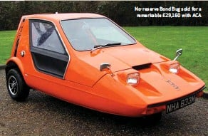 ??  ?? No-reserve Bond Bug sold for a remarkable £29,160 with ACA