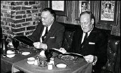 ??  ?? J. Edgar Hoover, left, and Clyde Tolson dining a deux at the hotel.