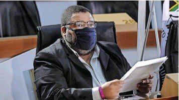?? | ITUMELENG ENGLISH African News Agency (ANA) ?? ATHOL Williams appears before the Commission of Inquiry into Allegations of State Capture led by Deputy Chief Justice Raymond Zondo, to testify against Bain & Company.