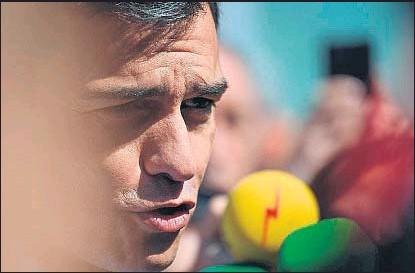 ?? PEDRO ARMESTRE / AFP ?? Pedro Sánchez ha optado por la discreción total tras el 26-J, a diferencia de la elección anterior