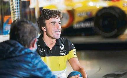 ?? EFE ?? El piloto español Fernando Alonso regresará este año a la Fórmula Uno corriendo con el equipo Alpine, anteriormente Renault.