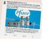 """??  ?? 凯里在推特上分享了一份""""辉瑞疫苗在接种首剂疫苗后就发挥了85%功效""""的研究报告,并表示冠病疫苗特别委员会将会持续关注有关进展。"""