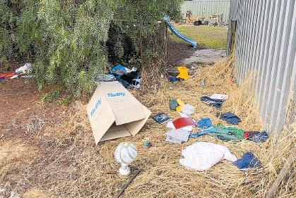 ?? Picture: Tambellup police ?? Items allegedly thrown out of one of the homes.