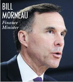 ?? SEAN KILPATRICK / THE CANADIAN PRESS ?? BILL MORNEAU Finance Minister