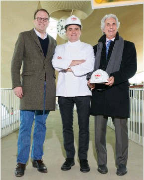 ??  ?? mcr CEO Tyler morse, Jean-georges Vongerichten and Tastes on the Fly CEO & co-founder michael Levine.