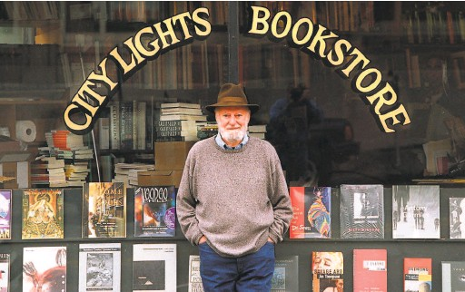 ?? John O'Hara / The Chronicle 1995 ?? Lawrence Ferlinghetti, poet, publisher and bookstore owner, ran the preeminent literary gathering place in San Francisco for more than 60 years.