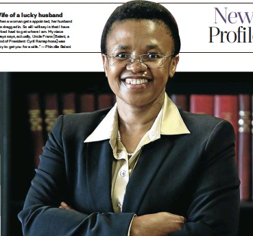 ?? Picture: Masi Losi ?? Phindile Baleni has been appointed the new director-general in the presidency, making her the country's most senior civil servant. She is confident the SIU and NPA are on course to track down those guilty of corruption in the government.