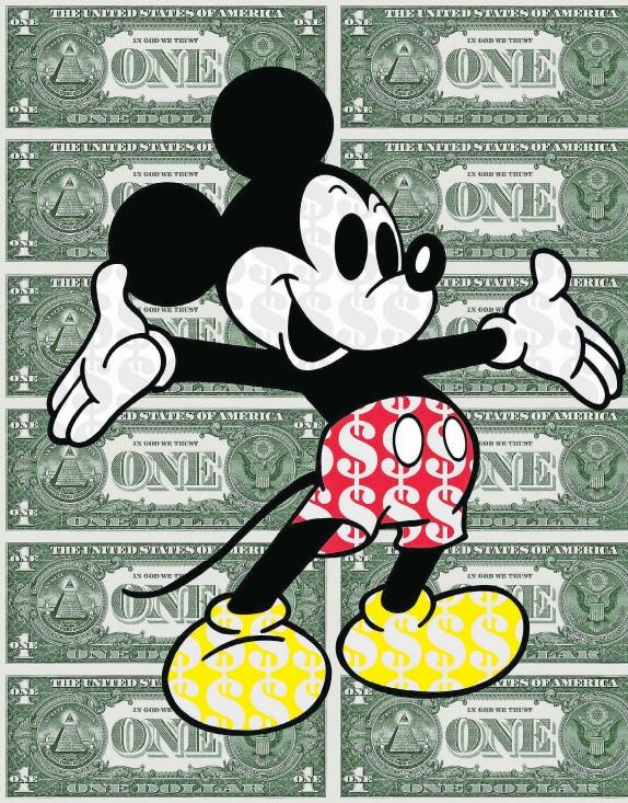 ??  ?? DISNEY DOUGH: Ben Allen's Dollar Mickey