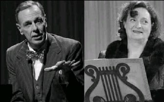 ?? PHOTOS BY CAROL PRATT — STUDIO THEATRE ?? J. Fred Shiffman as accompanist Cosme McMoon, who gets an earful from Nancy Robinette's Florence Foster Jenkins.