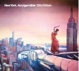 ??  ?? www.aparte-kunst.de www.olga-david.de NewYork, Acrylgemälde 120x100cm.