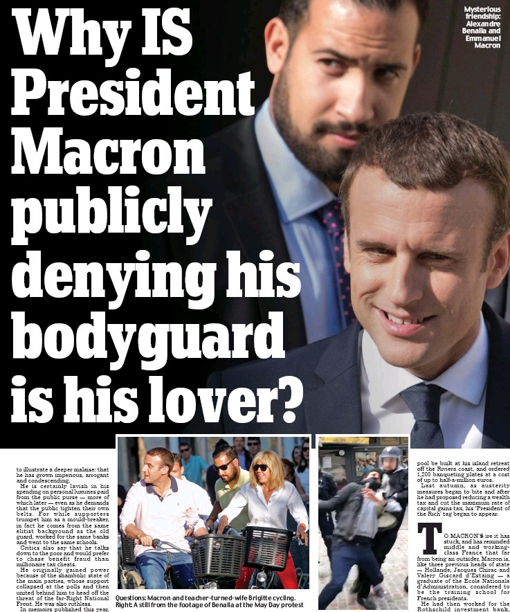 Why IS President Macron publicly denying his bodyguard is his lover? - PressReader